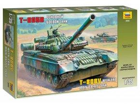 Zvezda - T-80BV, sovětská armáda, Model Kit 3592, 1/35