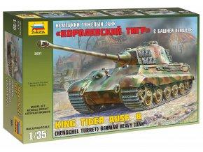 Zvezda - Pz.Kpfw.VI Ausf.B Tiger II - Königstiger, věž Henschel, Model Kit 3601 1/35