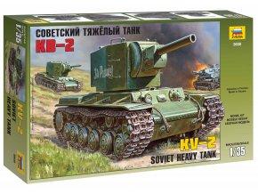 Zvezda - těžký tank KV-2, sovětská armáda, Model Kit 3608, 1/35