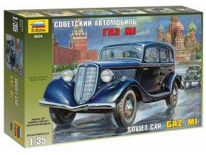Zvezda - automobil GAZ M1 Soviet Car, Model Kit 3634, 1/35
