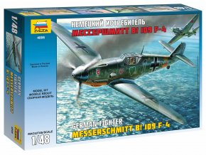Zvezda - Messerschmitt Bf-109 F4, Model Kit 4806, 1/48
