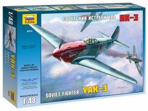 Zvezda - Jakovlev Jak-3, Model Kit 4814, 1/48