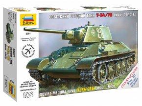 Zvezda - T-34/76, sovětská armáda, Snap Kit Z5001, 1/72