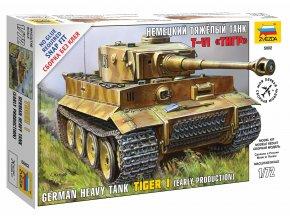 Zvezda - Pz.Kpfw.VI Tiger I, Snap Kit 5002, 1/72