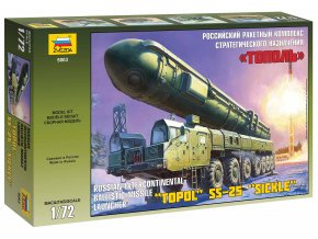Zvezda - raketový komplex RS-12M Topol / SS-25 Sickle /, Model Kit 5003, 1/72