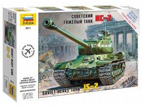 Zvezda - sovětský těžký tank IS-2, Snap Kit 5011, 1/72