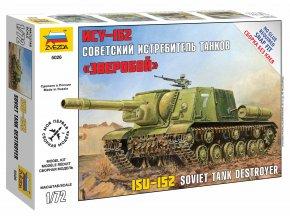 Zvezda - samohybné dělo ISU-152, sovětská armáda, Snap Kit 5026, 1/72