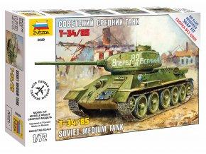 Zvezda - T-34/85, sovětská armáda, Snap Kit 5039, 1/72