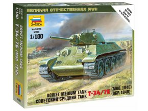 Zvezda - T-34/76, sovětská armáda, Wargames (WWII) 6101, 1/100