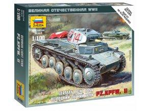 Zvezda - lehký tank Pz.Kpfw. II, Wargames (WWII) 6102, 1/100