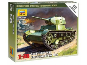 Zvezda - tank T-26 M, Wargames (WWII) 6113, 1/100,