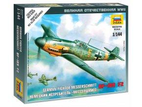 Zvezda - Messerschmitt Bf-109 F-2, Wargames (WWII) 6116, 1/144