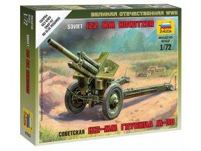 Zvezda - houfnice 122 mm M1938 (M-30), Wargames (WWII) 6122, 1/72