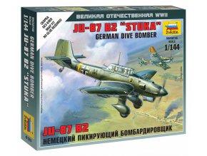 Zvezda - Junkers JU-87 Stuka, Luftwaffe, Wargames (WWII) 6123, 1/144