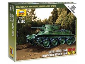 Zvezda - lehký tank BT-5, Wargames (WWII) 6129, 1/100