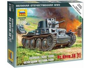 Zvezda - Pz.Kpfw.38(t), Wehrmacht, Wargames (WWII) 6130, 1/100