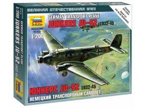 Zvezda - Junkers Ju 52/3m ''Tante Ju'', Wargames (WWII) 6139, 1/200