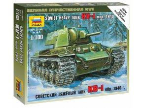 Zvezda - těžký tank KV-1, Wargames (WWII) 6141, 1/100