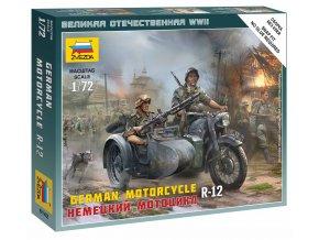 Zvezda - motocykl BMW R12, Wargames (WWII) 6142, 1/72