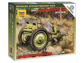 Zvezda - sovětský 76,2 mm divizní kanón vz.1942 (ZIS-3), Wargames (WWII) 6145, 1/72