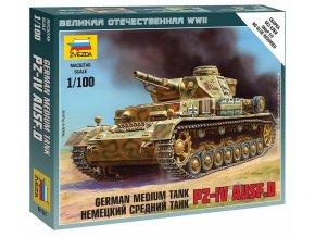 Zvezda - Pz.Kpfw.IV Ausf.D, Wargames (WWII) 6151, 1/100