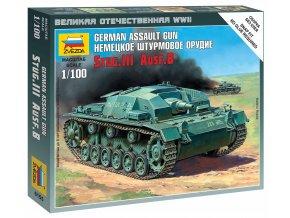 Zvezda - Sd.Kfz.142 Sturmgeschütz III Ausf.B - StuG III, Wargames (WWII) 6155, 1/100
