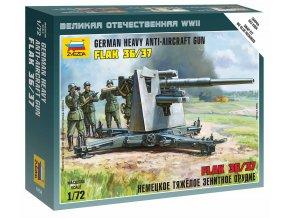 Zvezda - protiletadlové dělo 88mm Flak 36/37, Wargames (WWII) 6158, 1/72