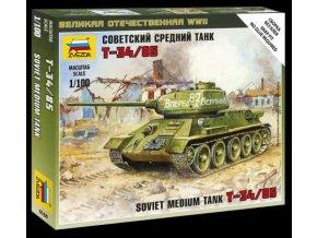 Zvezda - T-34/85, Wargames (WWII) 6160, 1/100