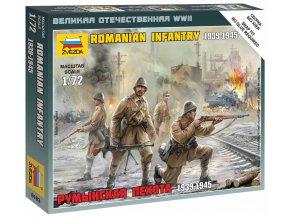 Zvezda - figurky rumunská pěchota, Wargames (WWII) 6163, 1/72