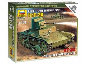 Zvezda - T-26 plamenometná verze, Wargames (WWII) 6165, 1/100