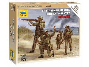 Zvezda - figurky britská pěchota, 1939-42, Wargames (WWII) 6166, 1/72