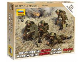 Zvezda - figurky kulomet Vickers s obsluhou, 1939-42, Wargames (WWII) 6167, 1/72
