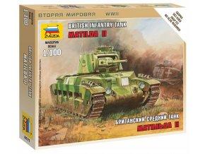 Zvezda - tank Matilda Mk.II, Wargames (WWII) 6171, 1/100