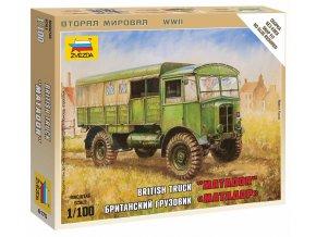 Zvezda - střední dělostřelecký tahač AEC Matador, Wargames (WWII) 6175, 1/100