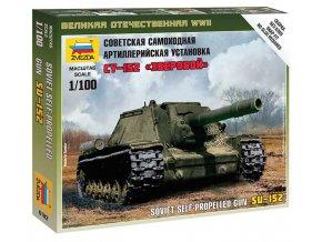 Zvezda - samohybné dělo SU-152, Wargames (WWII) 6182, 1/100