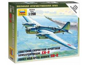 Zvezda - Tupolev SB-2, sovětské letectvo, Wargames (WWII) 6185, 1/200