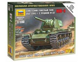 Zvezda - těžký tank KV-1 s dělem 76 mm M1940 /F-34/, Wargames (WWII) 6190, 1/100
