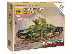 Zvezda - tank Matilda Mk.I, Wargames (WWII) 6191, 1/100