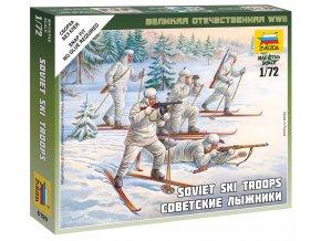 Zvezda - figurky  sovětská pěchota na lyžích, Wargames (WWII) 6199, 1/72