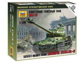 Zvezda - sovětský těžký tank IS-2, Wargames (WWII) 6201, 1/100