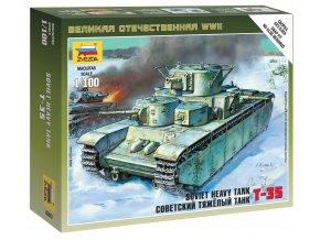 Zvezda - T-35, sovětská armáda, Wargames (WWII) 6203, 1/100