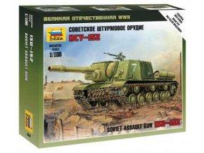 Zvezda - samohybné dělo ISU-152, sovětská armáda,  Wargames (WWII) 6207, 1/100