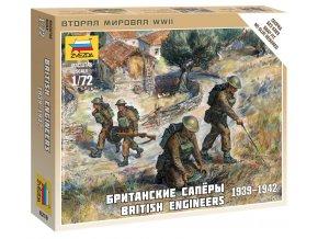 Zvezda - figurky britští ženisté, Wargames (WWII) 6219, 1/72