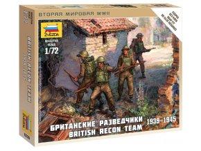 Zvezda - figurky britský průzkumný tým, Wargames (WWII) 6226, 1/72
