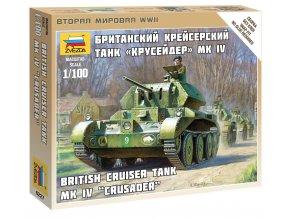 Zvezda - Cruiser Crusader Mk.IV, britská armáda, Wargames (WWII) Z6227, 1/100