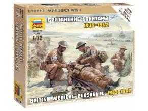 Zvezda - figurky britští zdravotníci, Wargames (WWII) 6228, 1/72