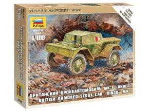 Zvezda - lehké průzkumné vozidlo Dingo, Wargames (WWII) 6229, 1/100