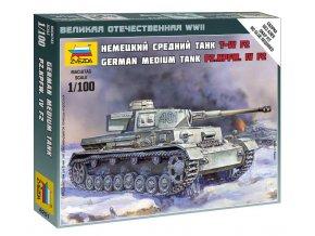 Zvezda - Pz.Kpfw.IV Ausf.H, Wargames (WWII) 6251, 1/100