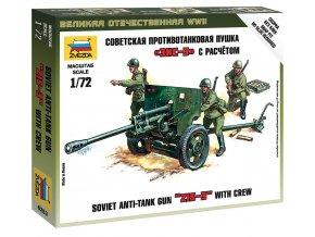 Zvezda - sovětský 76,2 mm divizní kanón vz.1942 (ZIS-3), Wargames (WWII) 6253, 1/72