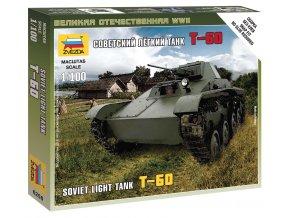 Zvezda - sovětský lehký tank T-60, Wargames (WWII) 6258, 1/100